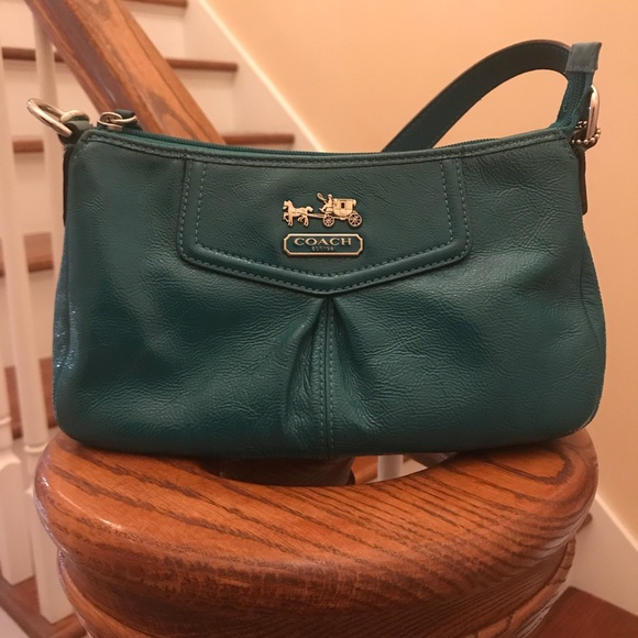 Coach Bags | Jade Green Patent Textured Leather
